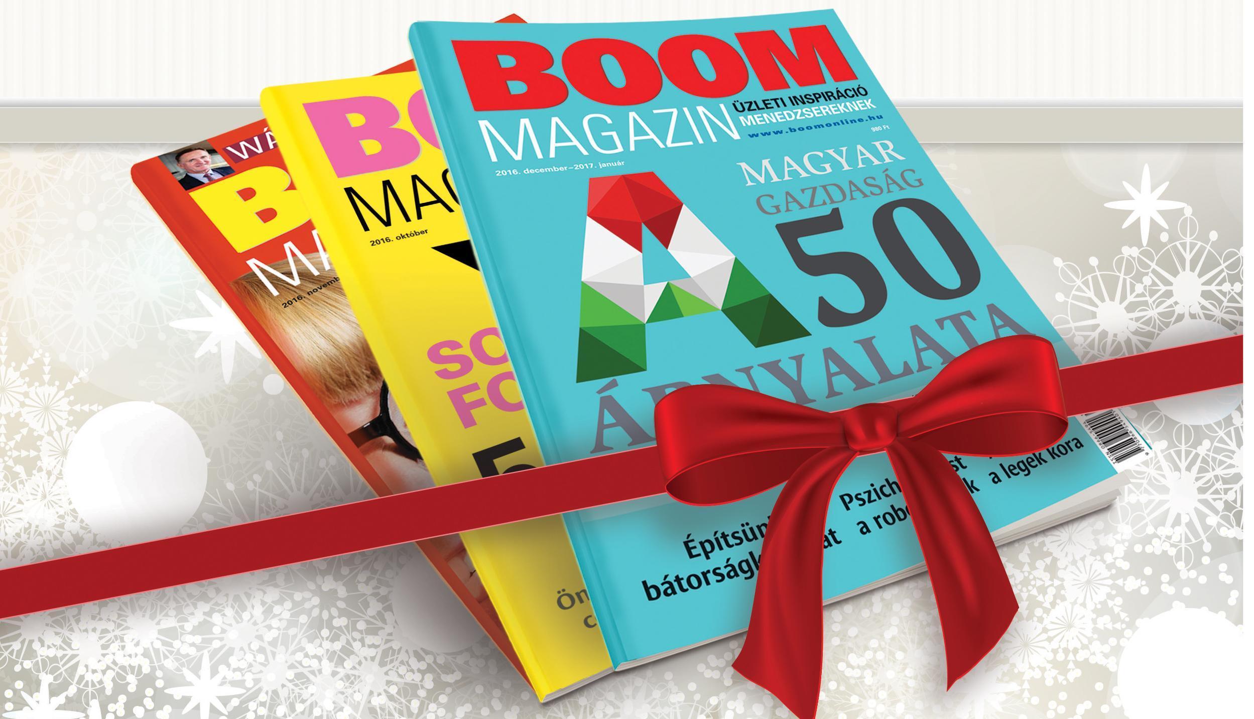 BOOM Magazint ajándékba!